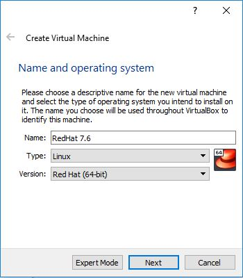 Install Red-Hat Enterprise Linux 7 6 on Oracle VirtualBox